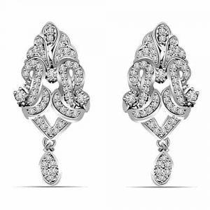 Surat Diamond 1 00 Cts White Gold Hanging Earrings Er396 Online