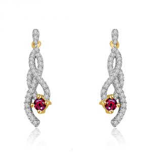 432f945a5 Surat Diamond My Heart Is Beating Two Tone Diamond & Gold Earrings Er429