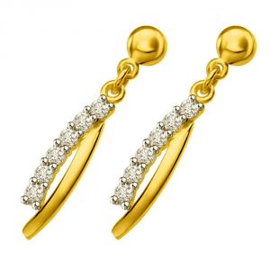 770186cc8 Buy Surat Diamond Twisted Dreams 0.30ct Diamond & Yellow Gold Drop Earrings  Er437 online