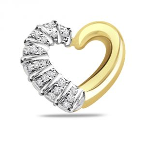 Buy Surat Diamond Secrets Of Heart 0.25ct Diamond Two-tone Pendant P462 online