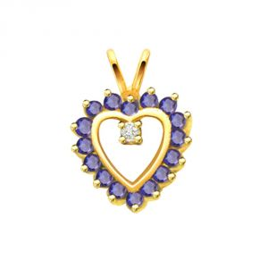 Buy Surat Diamond Heart Of Sapphire Pendant P518 online