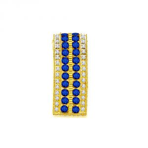 Buy Surat Diamond 0.28 Cts 18kt Gold Diamond & Sapphire Pendant P638 online