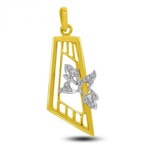 Buy Diamond & Gold Pendant For The Lady Of Your Heart P739 online