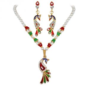 Buy Surat Diamond Priya- Dazzling Peacock Set Ps90 online