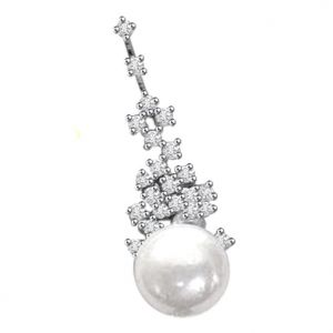 Buy Surat Diamond 0.30ct Diamond & Pearl Pendant - P432 online