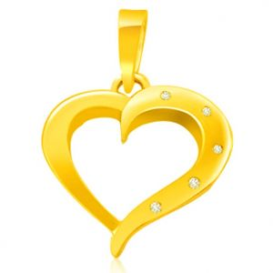 Buy Surat Diamond 0.05 Cts Heart Shaped Real Gold Diamond Pendant - P612 online