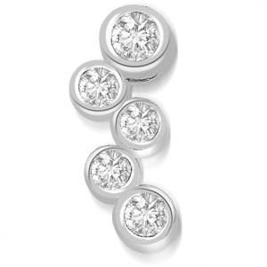 Buy Surat Diamond 0.15 Cts White Gold Designer Diamond Pendant - P667 online