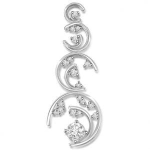 Buy Surat Diamond 0.23 Cts Fancy White Gold Diamond Pendant - P675 online