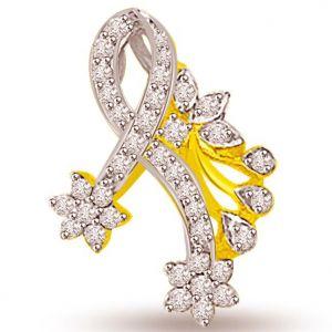 Buy Surat Diamond 0.40 Cts Floral Pattern Diamond Pendant - P688 online