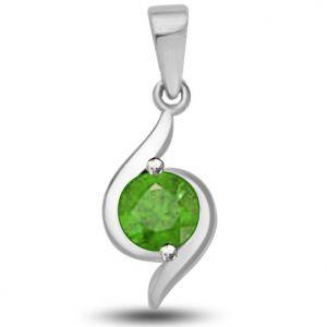 Buy Surat Diamond 0.50 Tcw Elegant Emerald Pendant In 14kt White Gold - P1156 online