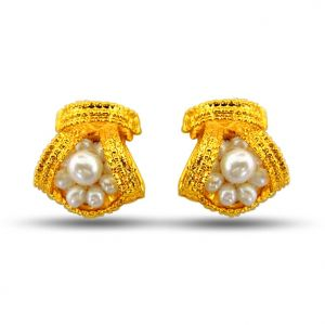 Buy Surat Diamond Beautiful Bejeweling Pearl Earrings Se44 online