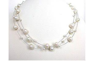 Buy Surat Diamond Pearl Jealousy Necklace Sn195 online