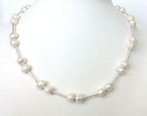 Buy Surat Diamond Pearl Flambeau Necklace Sn206 online