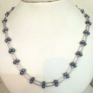 Buy Surat Diamond Grey Colored Pearl Necklace - Sn321 Sn321 online