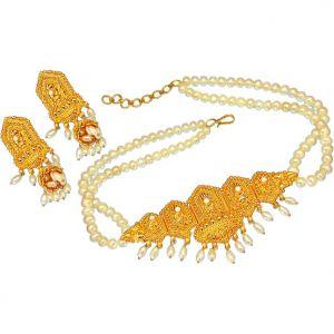 Buy Surat Diamond Pearl Sparkling Beauty Necklace Sp379 online