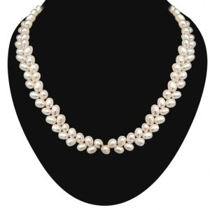 Buy Surat Diamond - Real Drop Shaped Freshwater Pearl Necklace - Sn637 online