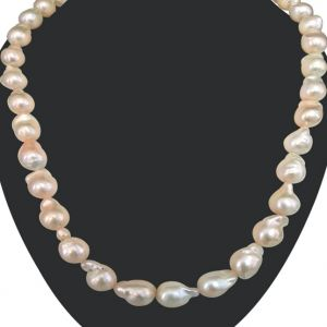 Buy Surat Diamond - Real Baroque Freshwater Pearl Necklace - Sn664 online