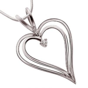 Buy Surat Diamond - Love Pendant Sterling Silver Pendant -sdp10 online