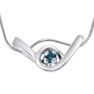 Buy Surat Diamond Denim Days Blue Topaz & 925 Sterling Silver Pendant With 18 In Chain Sdp406 online