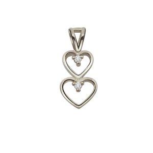 Buy Surat Diamond - Magical Heart Sterling Silver Pendant -sdp41 online
