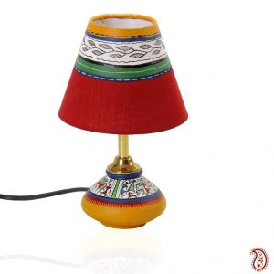 Buy terracotta lamp base with hand painted lamp shade online best buy terracotta lamp base with hand painted lamp shade online aloadofball Choice Image
