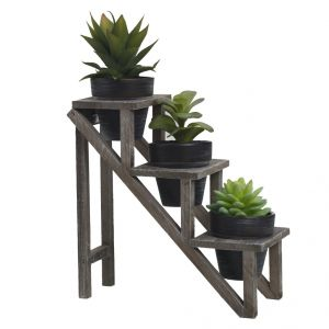 Set Of 3 Beautiful Planter Pots With Step Style Stand Online