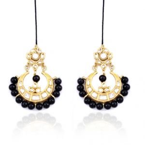 Black Beads Chandelier Earrings Online Best Prices In India Rediff Ping