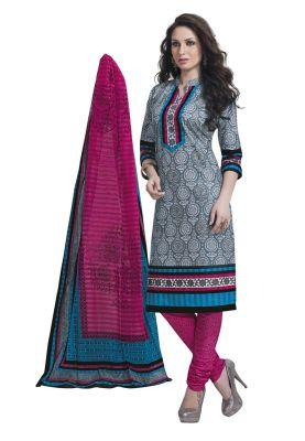 42f1127f11 Buy Salwar Studio Grey & Dark Pink Salwar Kameez Suit With Dupatta Aarvi  Special-1711