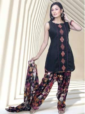 fa709d7006 Buy Readymade Black Cotton Silk Salwar Kameez Online | Best Prices ...