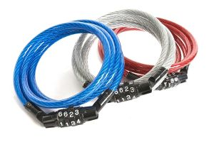 Set Of 3 Heavy Duty Metal Steel Rope Number Lock