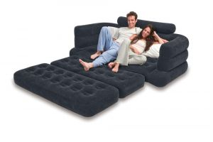 Buy Intex Velvet Premium 5 In 1 Queen Size Sofa Bed online