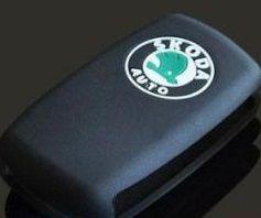 Buy Skoda Black Silicone Car Key Cover Fabia Rapid Yeti Laura