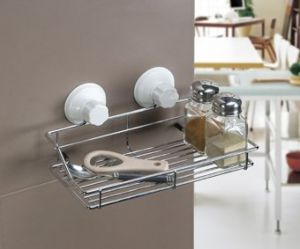 Cupula Premium Stainless Steel Kitchen Shelf Organizer Suction Cup Hd