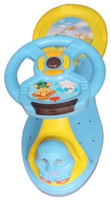 Buy Mankoose Rider Baby Push Rider Car With Music & Light Comfort Blue & Yellow online