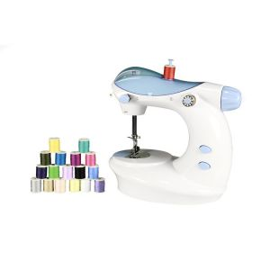 Buy Portable Mini Electric Double Stitch Sewing Machine With Thread Set online