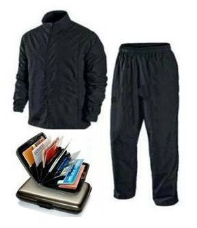 Buy Complete Rain Suit With Data Secure Aluminium Wallet New online