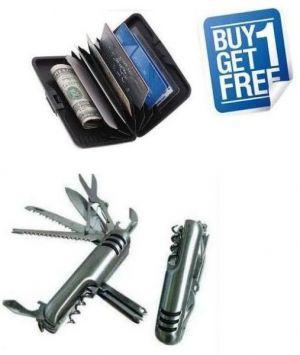 Buy Aluma Wallet & Army Knife Combo online
