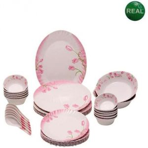 Buy Imported Round 32 PCs Dinner Set With Floral Design online