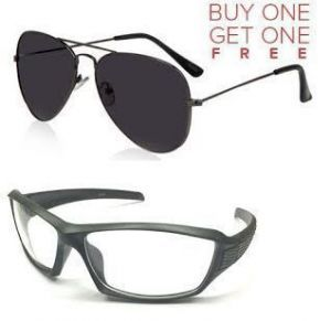 aviator sunglasses online shopping  Buy Transparent Driving Sunglass And Executive Black Aviator ...