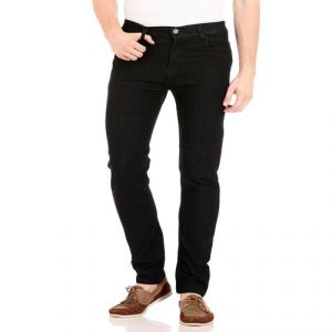 Buy Stylish Cotton Denim Black Jeans online