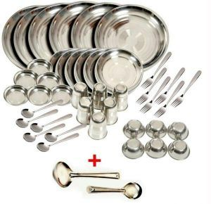 Buy Deluxe Quality Stainless Steel 50 PCs Dinner Set online