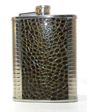 Buy Snake Design Stainless Steel Hip Flask - 8 Oz online