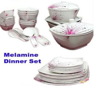 Buy Dinner Set Of 40 PCs Square Shape Melamine Dinner Set online