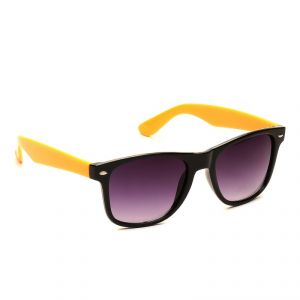 Buy Camerii Camerii Wayfarer Black & Yellow Sunglasses online