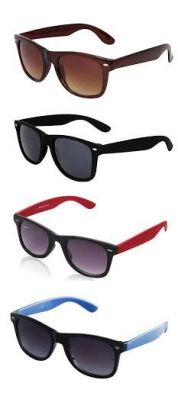 Buy Set Of 4 Classic Wayfarer Sunglasses Combo For Men online
