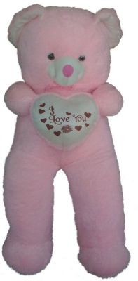 Buy Pink 5 Feet Teddy Beart Heart I Love You online