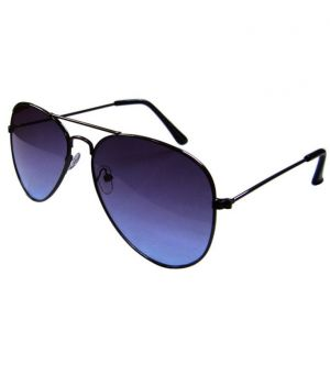 Buy Lister Dark Blue Casual Aviator Sunglasses online