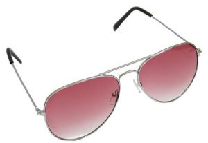 Buy Affaires Aviator Sunglass Silver-pink A-347 online