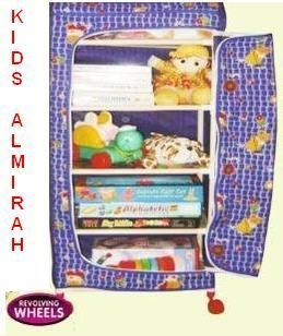 Buy Folding Cloth Almirah With Wheels For Kids Room online