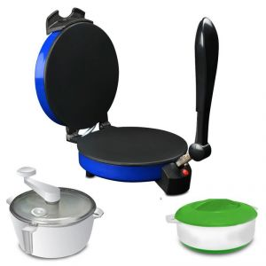 Buy Kitchen Pro Roti, Khakra & Pizza Maker - Blue With Atta Maker & Hotpot online